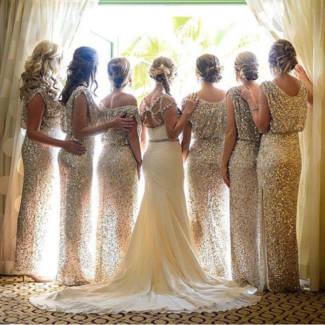 Long Bridesmaid Gown,Sparkly Bridesmaid Dress,Elegant Bridesmaid ...