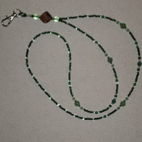 Beaded Lanyard Green