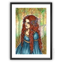 Fairy Princess - ORIGINAL watercolour painting 10x15 portrait medium photo