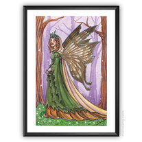 Forest Fairy - ORIGINAL watercolour painting 10x15 portrait medium photo