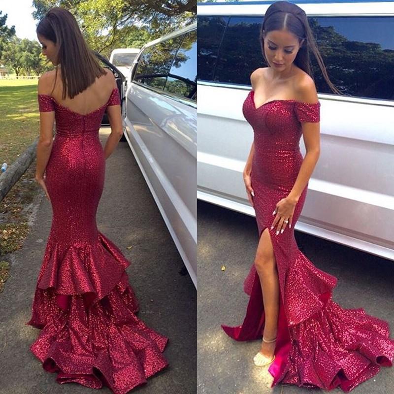 2016 Sexy Burgundy Lace Evening Dress Formal Dress Evening Dress