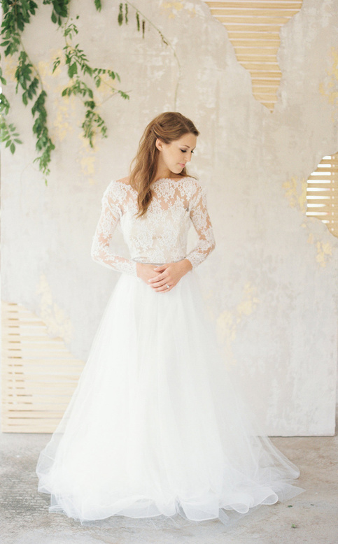 Wedding dresses lace wedding dress long sleeve bridal gown for White dress for winter wedding
