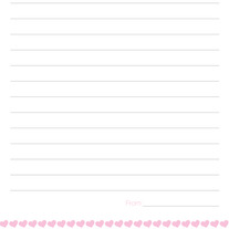 Pen Pal Set - Pink Hearts Design