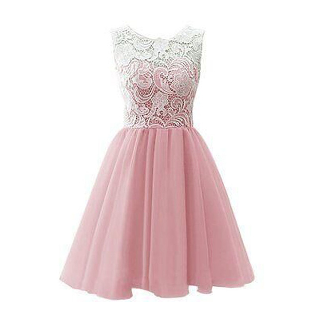 Solo Dress Pink Homecoming Dress,Homecoming Dresses,Lace Homecoming ...