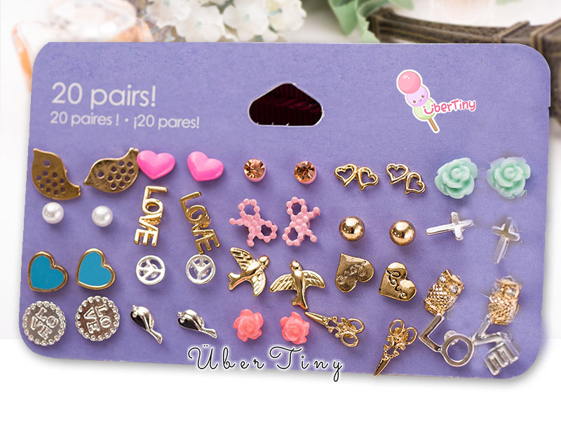 20 Pairs Sensitive Solutions Earrings 183 Uber Tiny