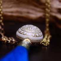Large Atlantic Medallion and Tassel Pendant Necklace
