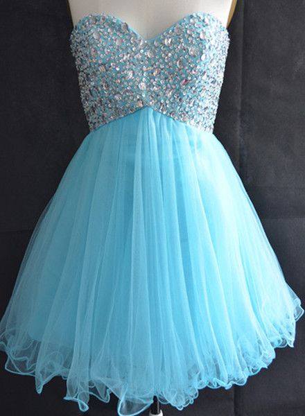 Solo Dress Blue Homecoming Dress,Tulle Homecoming Dresses,Sparkly ...