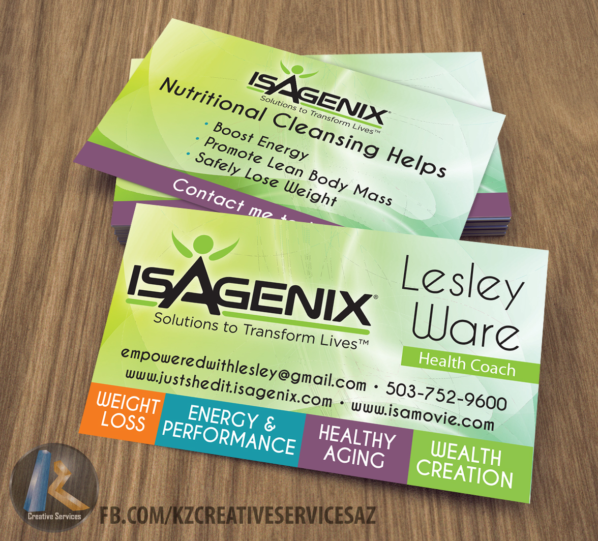 ISAGENIX Business Cards style 2 · KZ Creative Services · Online ...