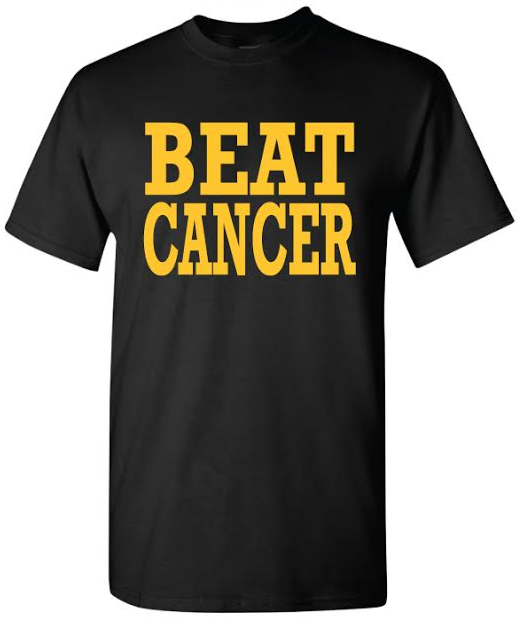 Black/Gold Dri-Fit T-Shirt · BeatCancerToday.org · Online Store ...