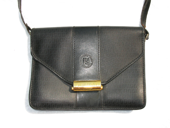 Authentic Vintage Fendi Leather Clutch Runway Logo Bag Handbag Sold Out 183 Nycvoguecloset
