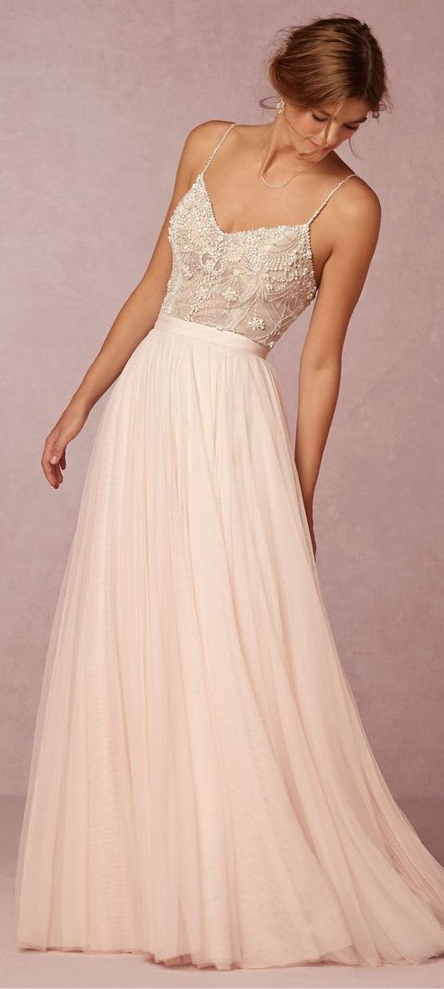 Blush Pink Prom Dresssexy Evening Dresstulle Prom Gownsprom