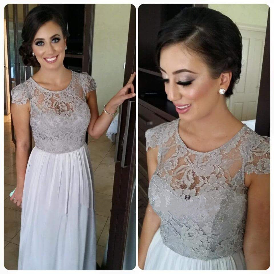 Elegant Bridesmaid Dresses, Long Bridesmaid Dresses, Cap Sleeve ...