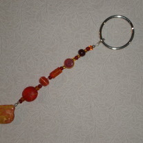 Beaded Keychain Yellow/Orange/Red