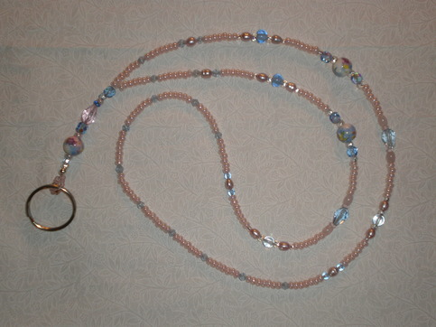 Beaded Lanyard Light Pink