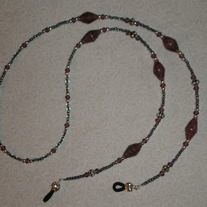 Beaded Eyeglass Chain Purple/Paper-Wrapped Beads