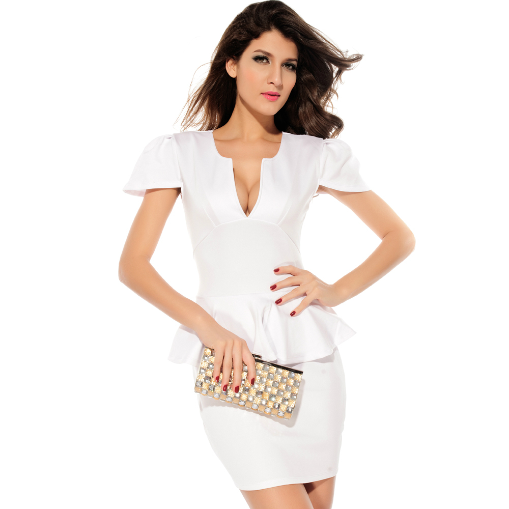 Sangria Women's Peplum White Dress 4. Sold by Marilyn & Dean's Fashion Exchange. $ $ Hotselling Women's Sleeveless Solid Work Business Party Peplum Bodycon Dress. Sold by Hot selling. $ - $ $ TOPSELLING Women's Sleeveless Solid Work Business Party Peplum Bodycon Dress.