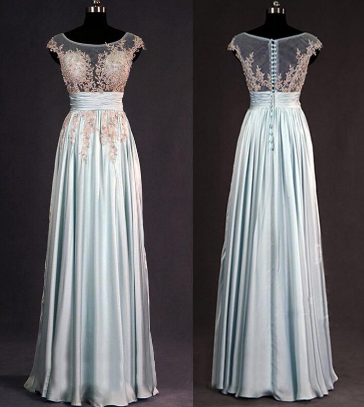 Blue Lace Bridesmaid Dresses