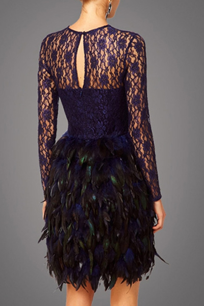 ALICE ODIN Lace Feather Prom Dress · Bilkis · Online Store Powered ...