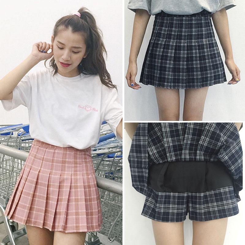 Japanese Sweet High Waist Pleated Skirt 183 Fashion Kawaii