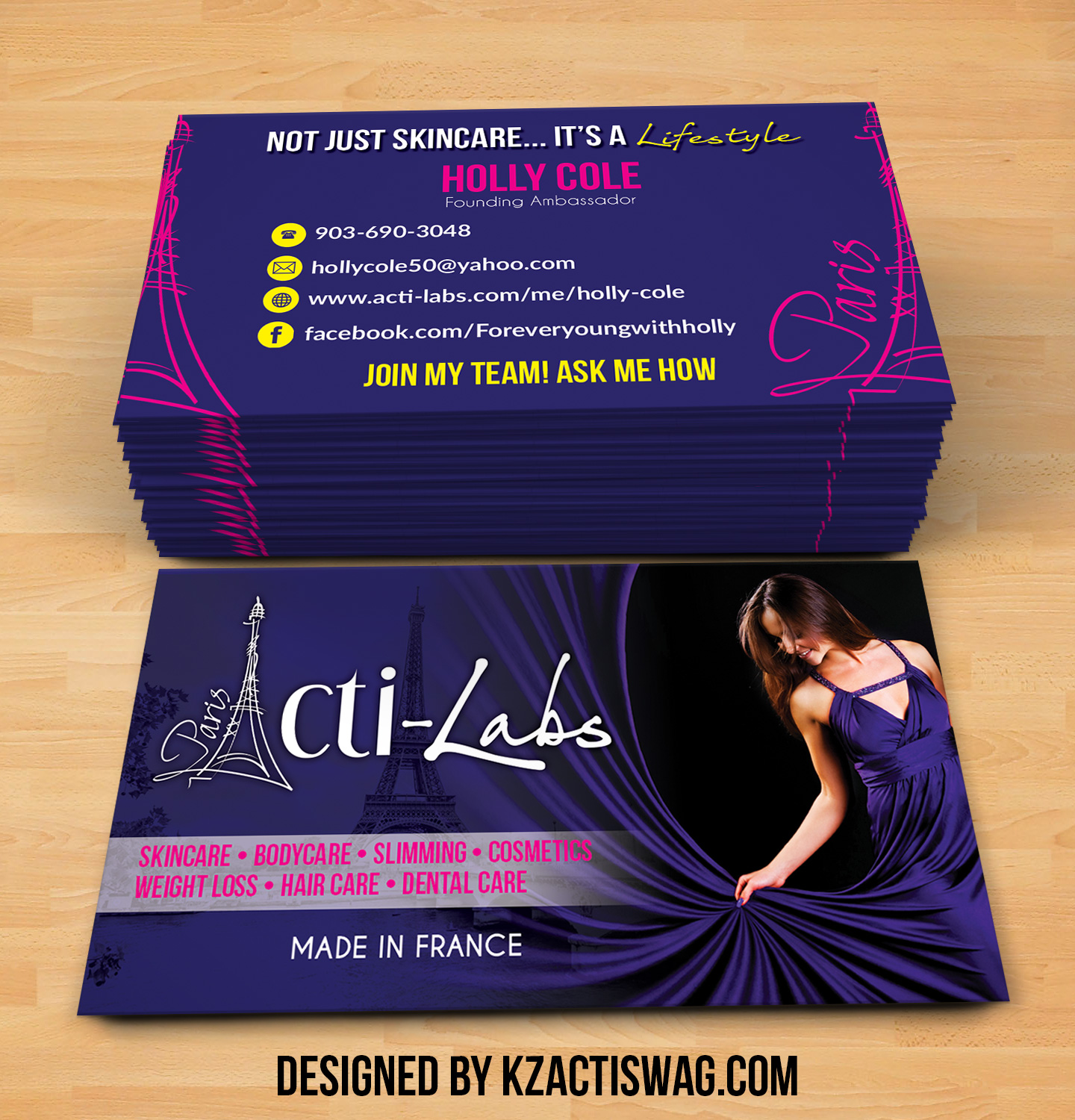 Acti Labs Business Cards 3 · KZ Creative Services · line Store