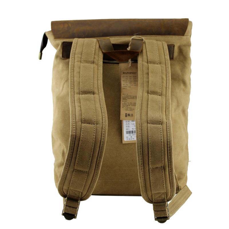 Large Vintage Handmade Leather Backpack / Satchel / Travel Bag ...