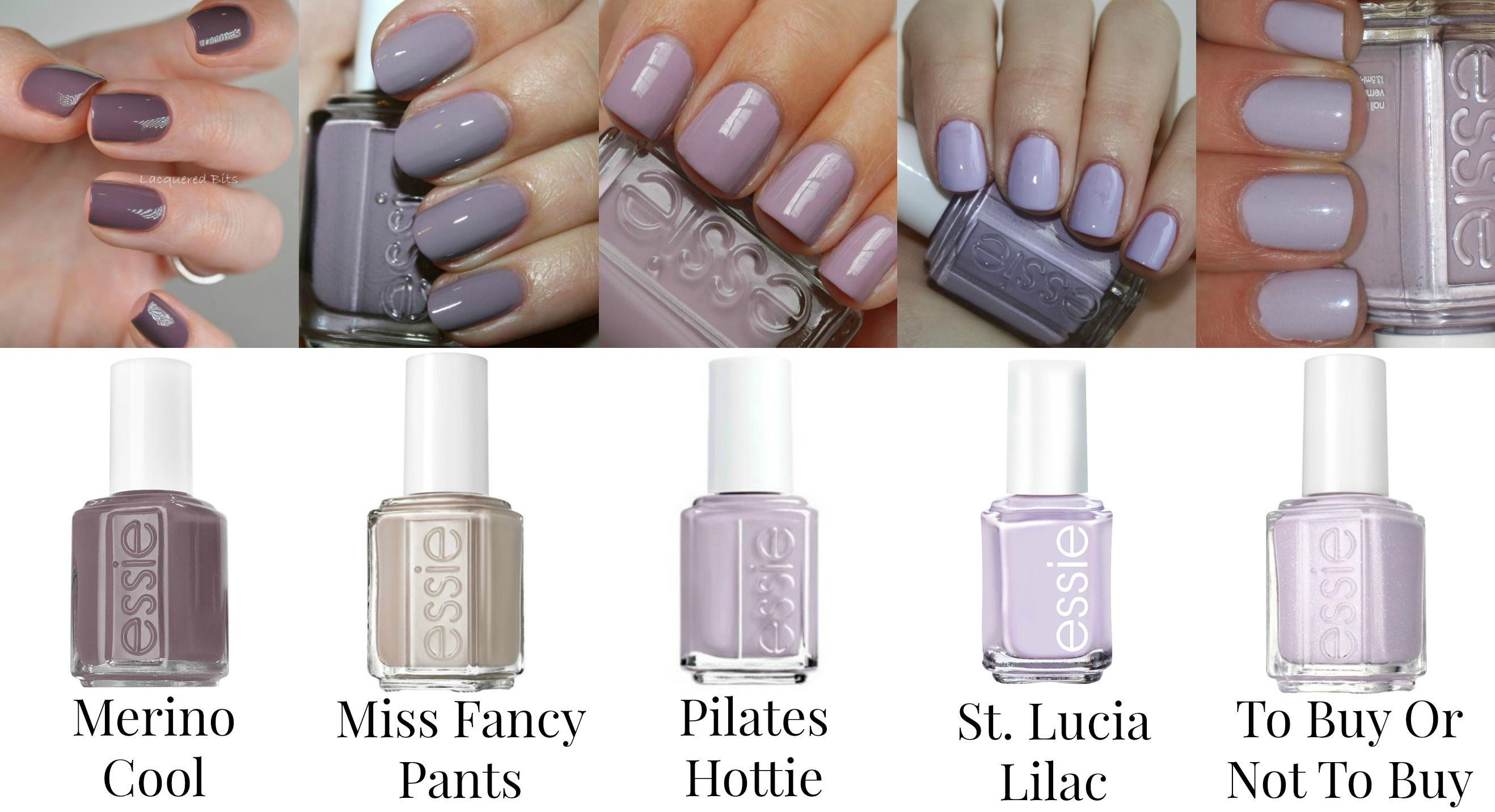 Essie Nail Polishes - Purples - Merino Cool, Miss Fancy Pants ...