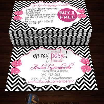 PERFECTLY POSH BUSINESS CARDS - 8 · KZ Creative Services · Online ...