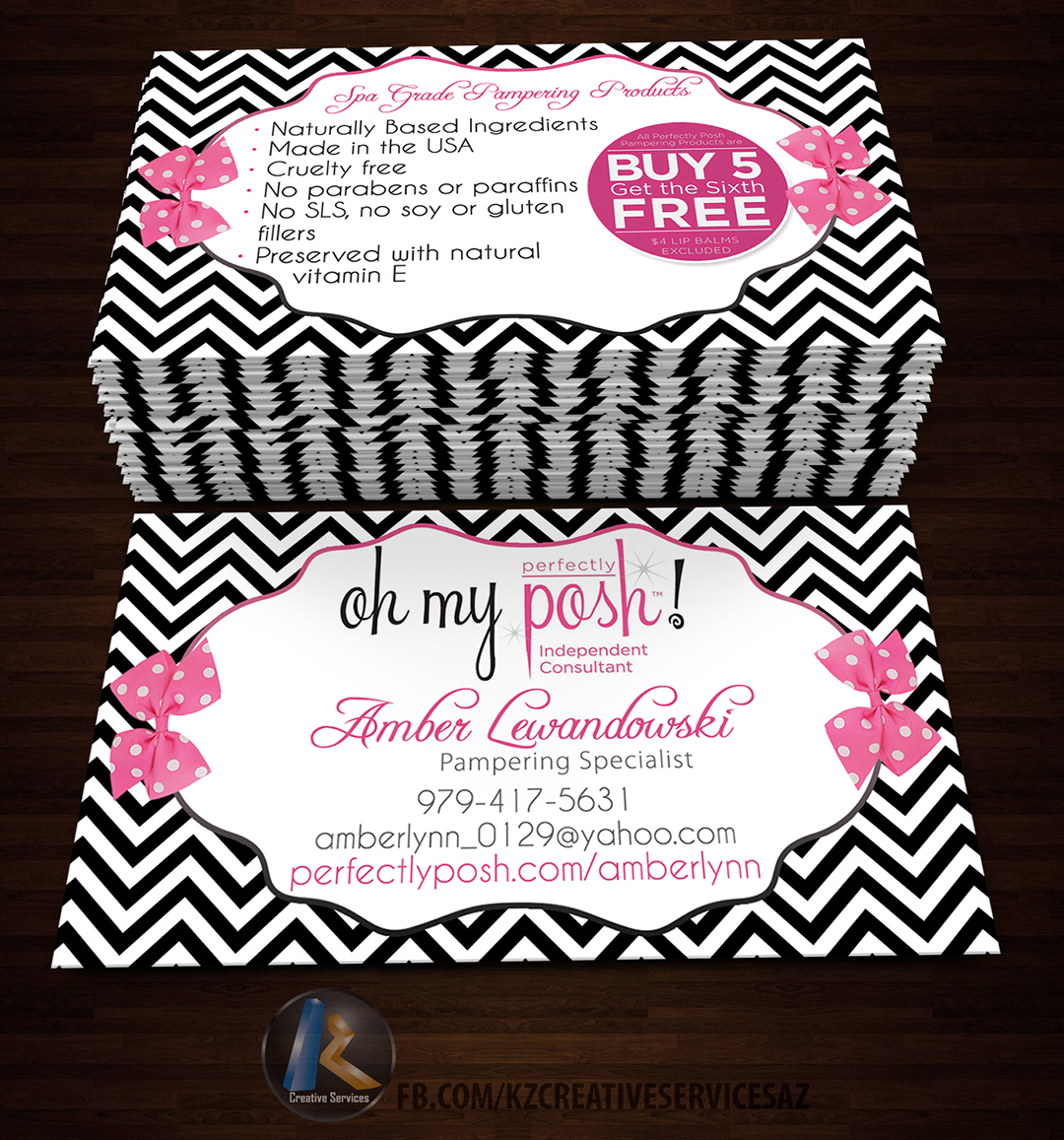 PERFECTLY POSH BUSINESS CARDS - 17 · KZ Creative Services · Online ...