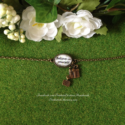 """believe in yourself"" charm bracelet"