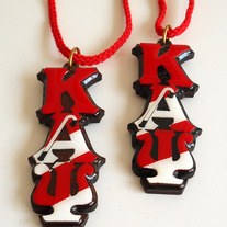 Kappa Alpha Psi Striped Tiki Necklace (2 Kolors)