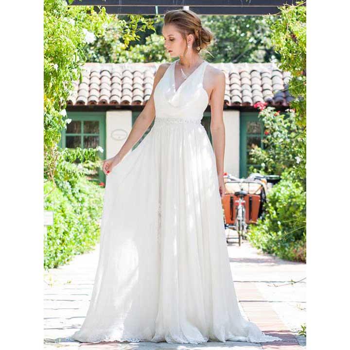 Cowl Neck Bridesmaid Dress