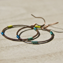Colour Wrapped Circle Earrings