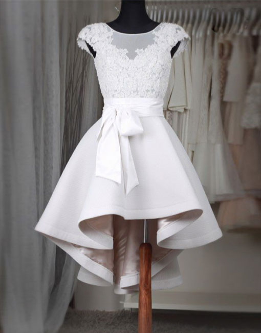Simple white lace short prom dress,homecoming dresses · Dream Prom ...