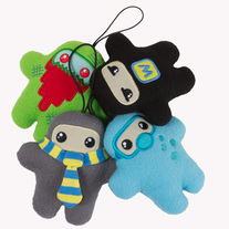 Shawnimals Plush Wee Pocket Ninjas