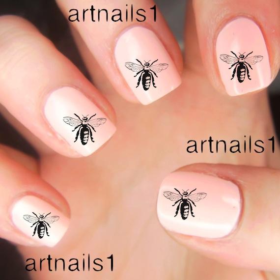 Honey Yellow Nail Polish: Bees Bee Honey Insect Male Polish Manicure Nails