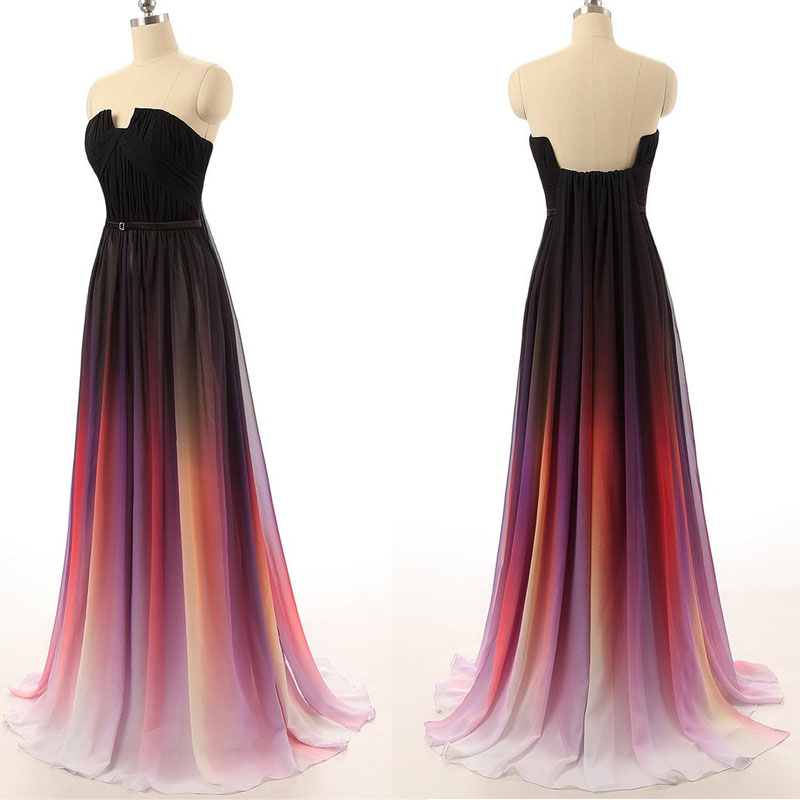 Rainbow Dresses,Colorful Dresses,Long Prom Dresses,Evening Dresses ...