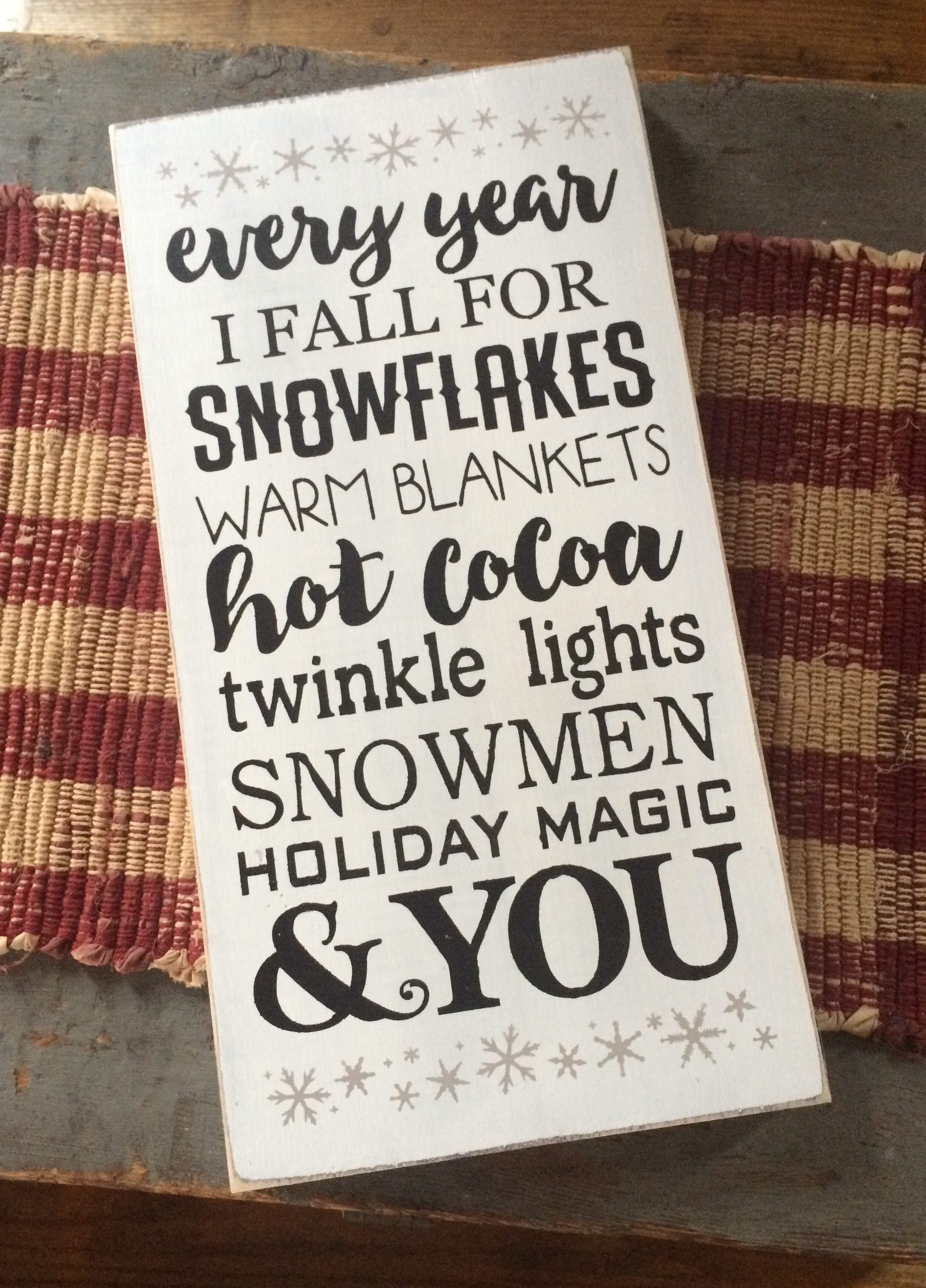 Christmas sign- Every year I fall for You · Little Blue Barn ...