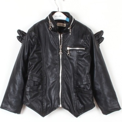 Leather fly wing jacket