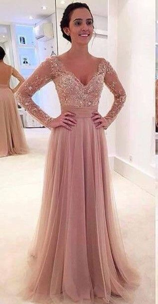 Long Prom Dresses with Lace