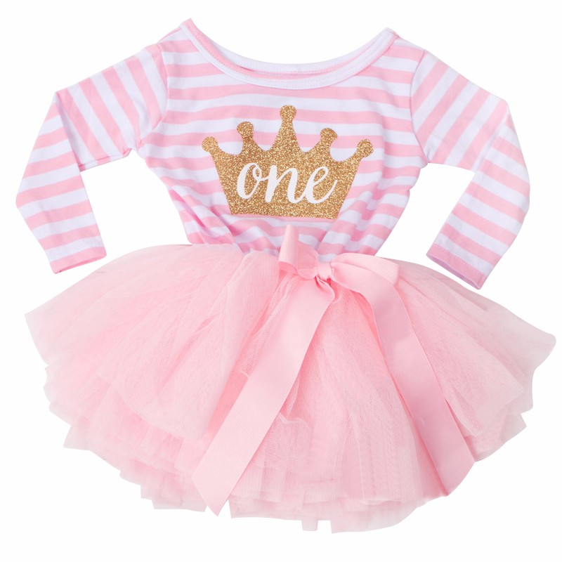 Sparkle Birthday Number Tutu Dress For Girls Cake Smash Dressbaby Pink