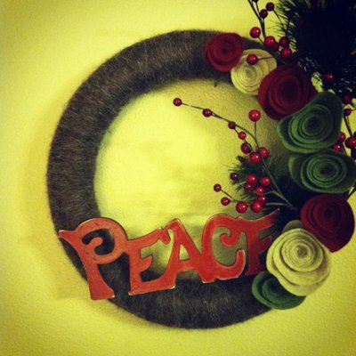 Madeline peace wreath