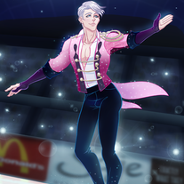 Yuri on ICE!!! Viktor 5 x 7 Print medium photo
