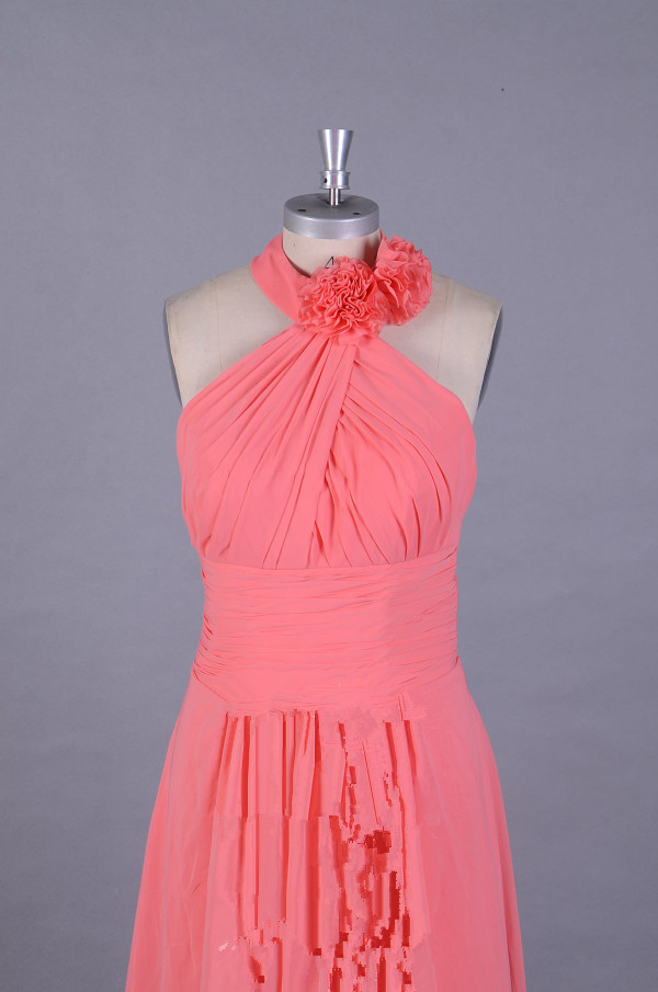 A411 Custom Made Halter bridesmaid Dresses, Top Selling A Line Prom ...