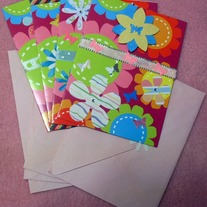 Pink Cards With Envelopes