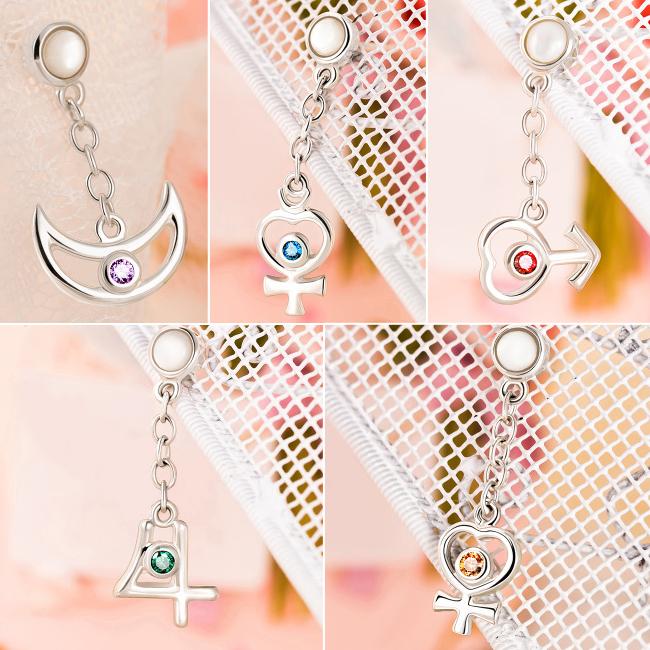 Sailor Moon Earring Solar System Symbols Goromiau Online Store