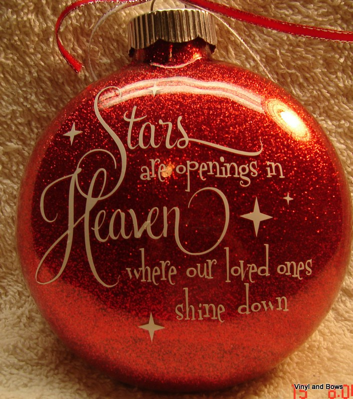 stars are openings in heaven ornament
