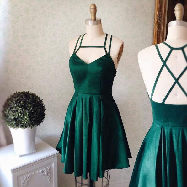 Cute A-line Short Green Prom Dress Homecoming Dress 2017 · modsele ...