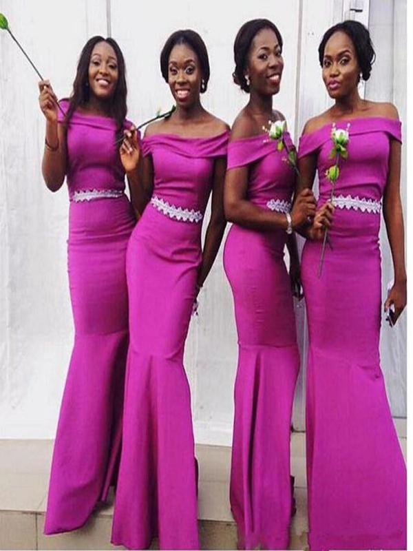 Long Purple Bridesmaid Dress, Off Shoulder bridesmaid dress, Mermaid ...