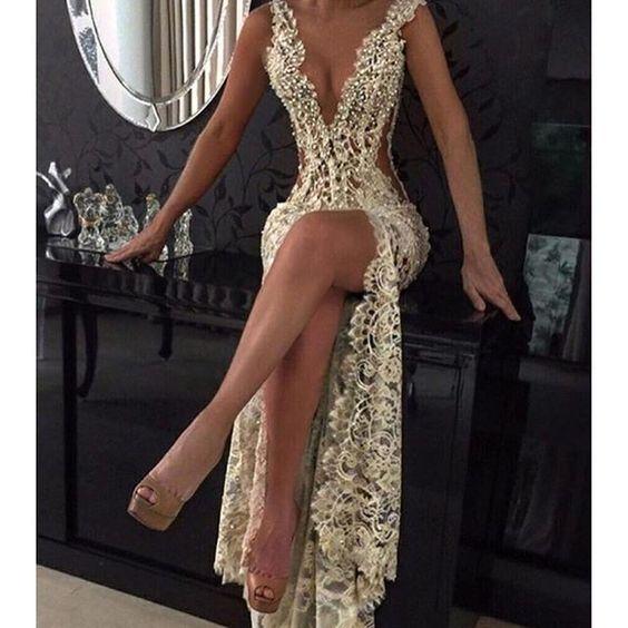 Sexy Sheer Prom Dress