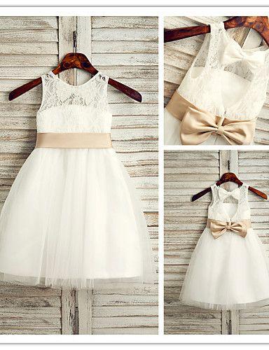 Flower Girl Dresses for Wedding White Princess Tutu 2017 Vintage ...